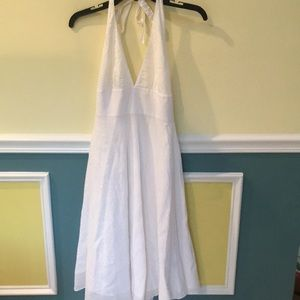 👗J Crew white Halter dress